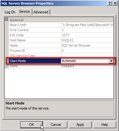 Configuring sql server 2008 r2 express edition for remote access below you can see that by default sql server express allocates a dynamic port when sql server starts sciox Gallery